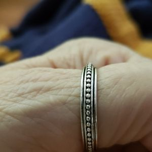 Silver beaded band - new